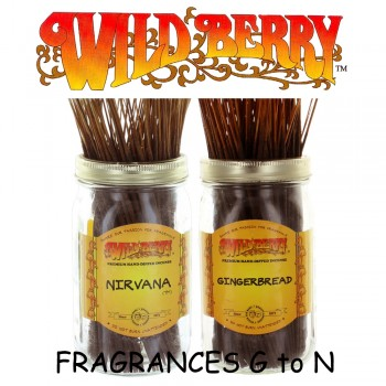 Wild Berry Incense Sticks (Pack of 10) - Fragrances G to N