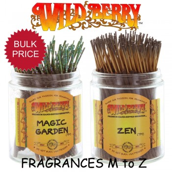 Wild Berry Incense Sticks Shorties (Pack 100) - Fragrances M to Z
