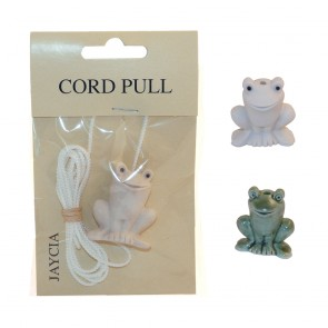 Ceramic Cord Pull Frog