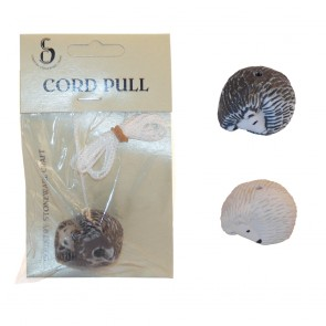 Ceramic Cord Pull Hedgehog