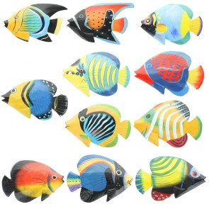 Small Brightly Painted Fish With Glossy Finish