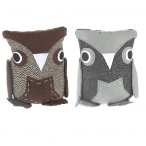 Herringbone Owl Door Stop