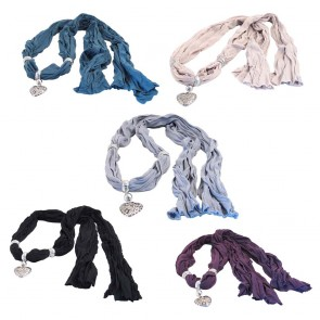 Jewel Scarf Heart