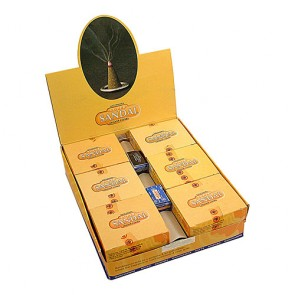 Nag Champa Sandalwood Dhoop Incense Cones (12 Packs of 12 cones)