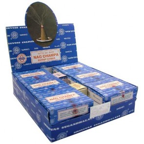 Satya Nag Champa Incense Cones, 12 Cones x 12 Packs