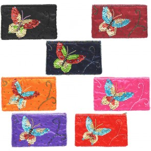 Butterfly Sequin And Bead Purse
