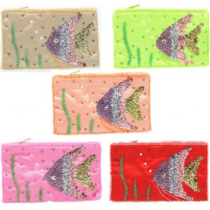 Angel Fish Sequin And Bead Purse