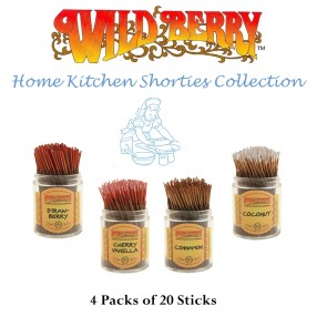 Wild Berry Shorties Incense Collection (4 packs of 20) - Home Kitchen