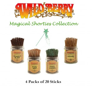 Wild Berry Shorties Incense Collection (4 packs of 20) - Magical