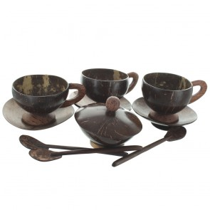 Coconut Shell Tea Set