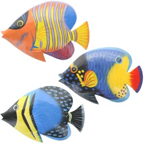 Brightly Painted Medium Wall Fish With Glossy Finish