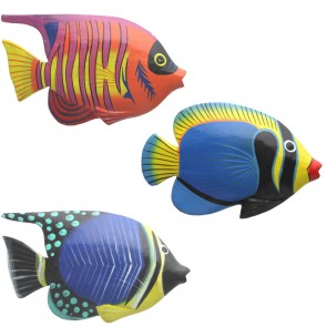 Brightly Painted Small Wall Fish With Glossy Finish