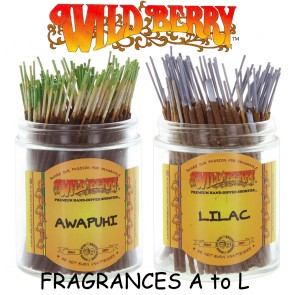 Wild Berry Incense Sticks Shorties (Pack 20) - Fragrances A to L