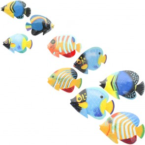 Brightly Painted Fish With Glossy Finish - Set of 3