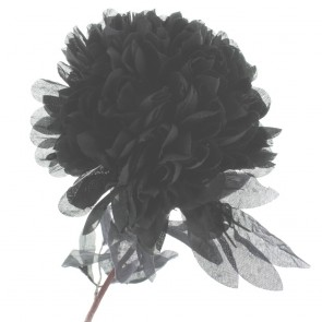 Black Fabric Flower Design 0707 - Pack of 5