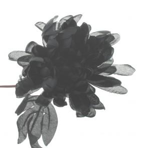 Black Fabric Flower Design 0709