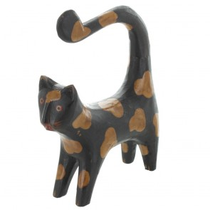 Bent Tail Cat - Black With Brown Patches