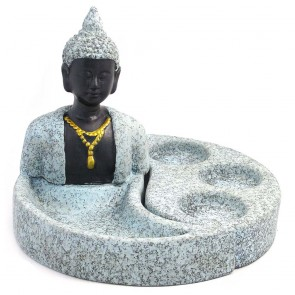 Buddha Triple Tea Light Candle Holder