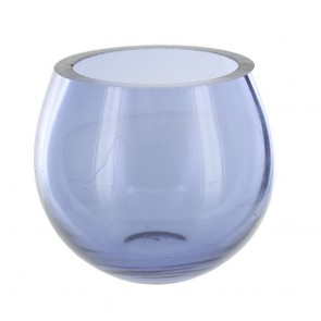 Mauve Glass Tea Light Holder