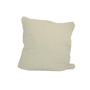 Cream Square Design Cushion 55 x 55cm