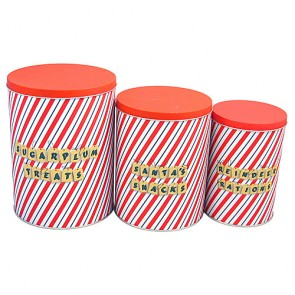 Tall Storage Tins - Sugar Plum (Set 3)