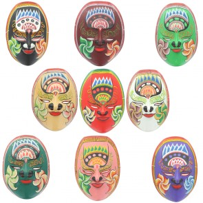 Javan Style Standard Brightly Coloured Wooden Mask