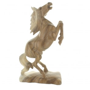 Carved Wooden Horse - Rearing 2