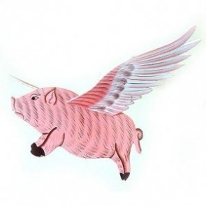 Pig Flapper Small - Pink