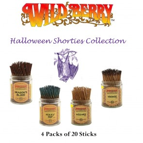 Wild Berry Shorties Incense Collection (4 packs of 20) - Halloween