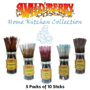 Wild Berry Incense Collection (5 packs of 10)- Home Kitchen