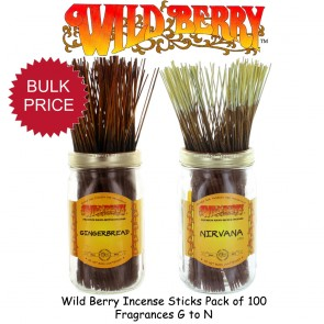 Wild Berry Incense Sticks Pack of 100 - Fragrances G to N